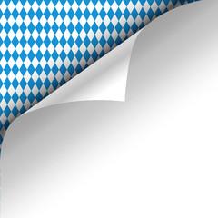 Oktoberfest Hintergrund Muster Zettel gerollt oben links