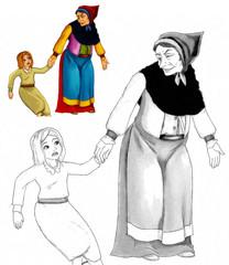 Cartoon fairy tale charatcer