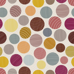 Abstract seamless pattern with large colored dots
