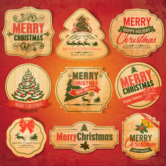 xmas sticker retro