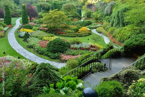 Staande foto Tuin Sunken Garden, Butchart Gardens, Victoria