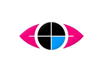 eye target vision symbol vector logo