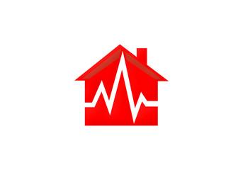home medical care vector logo