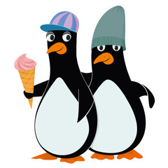 penguins and ice cream