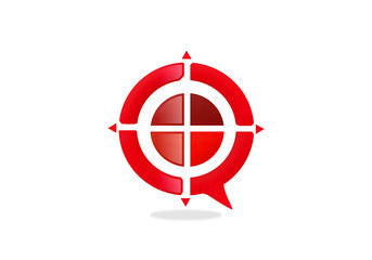 red target game abstract logo