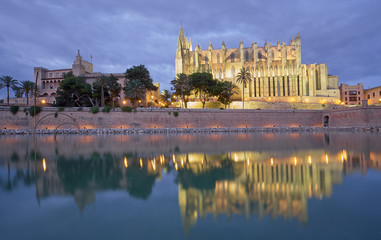 Cathedral of Palma de Mallorca, Balearic Islands.Spain.