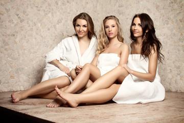 Women in a sauna
