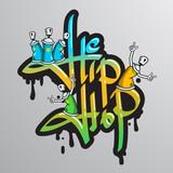 Fototapety Graffiti word characters print