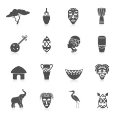 Africa icons set