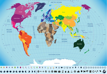 high detailed world map