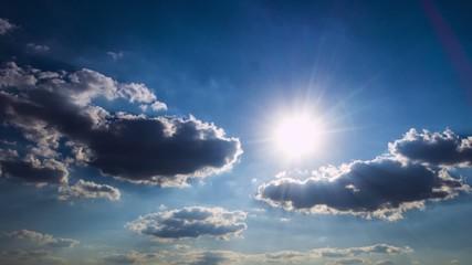 Sun & clouds in the sky