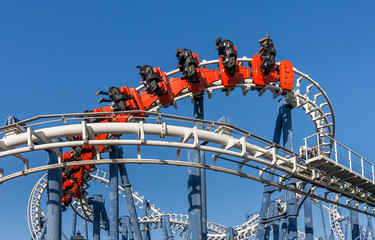 Roller coaster ride in Luna Park.