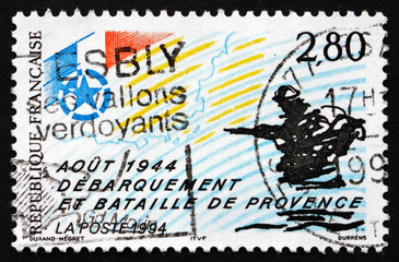 Postage stamp France 1994 Allied Landings in Provence