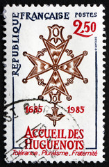 Postage stamp France 1985 Huguenot Cross