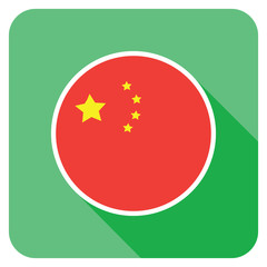 a chinese flat flag icon