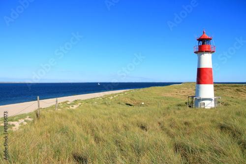 Staande foto Vuurtoren / Mill Leuchtturm List-Ost auf dem