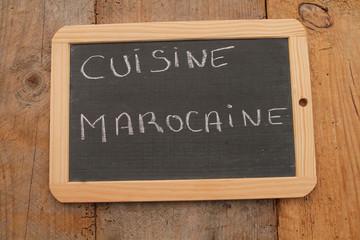 ardoise cuisine marocaine
