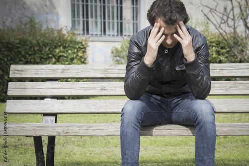 canvas print picture lonely man