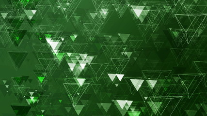 Green Abstract Animated Pyramids