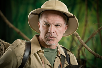 Expert explorer in the jungle