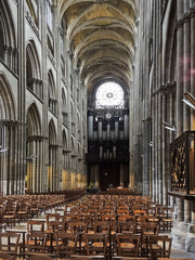 nave of Rouen Cathedral