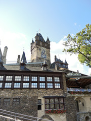 view of Cochem Imperial castle in Germany