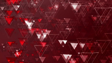 Red Abstract Animated Pyramids