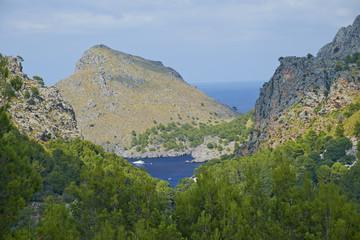 Road to Sa Calobra in Serra de Tramuntana. Mallorca, Spain