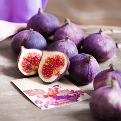 juicy figs on the table