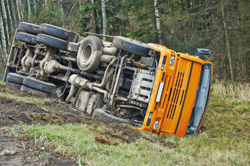 Lorry car crash accident