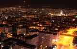 Night and city lights. ( Konya-Turkey). poster