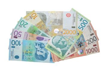 serbian dinar banknotes
