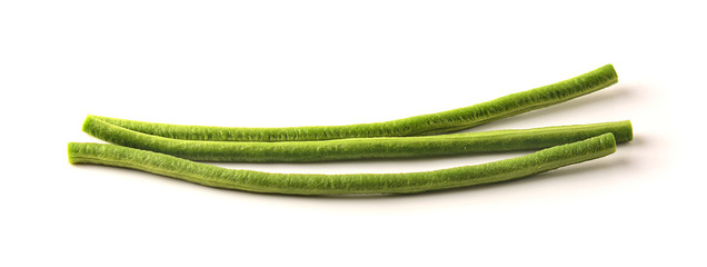 Yardlong bean with white background