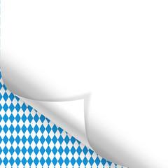 Oktoberfest Hintergrund Muster Zettel gerollt unten links