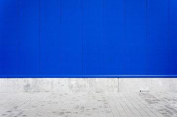 Blue Metal Panel Wall Background