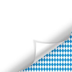 Oktoberfest Hintergrund Muster Zettel gerollt unten rechts