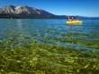 Female kayaker on Lake Tahoe.
