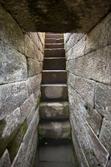 Ancient stone temple steps in Indonesia