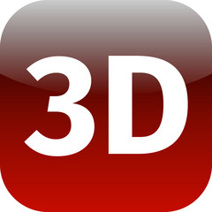 3D red icon