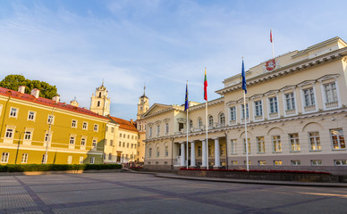 Representative yard and Presidential Palace in Vilnius, Lithuani