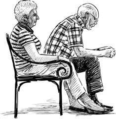 elderly spouse resting