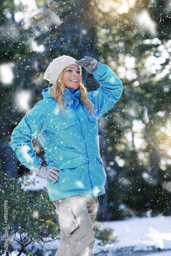 canvas print picture snow walking