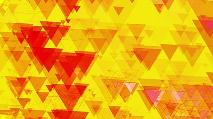 Yellow Abstract Animated Pyramids