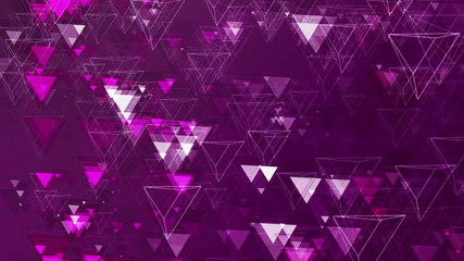 Purple Abstract Animated Pyramids