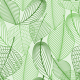 Green leaves seamless pattern background poster
