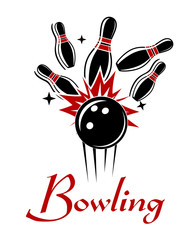 Bowling emblem or logo