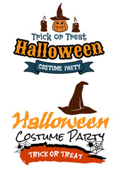 Halloween holiday party banners