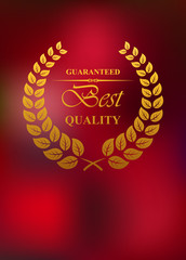 Best quality product label or emblem