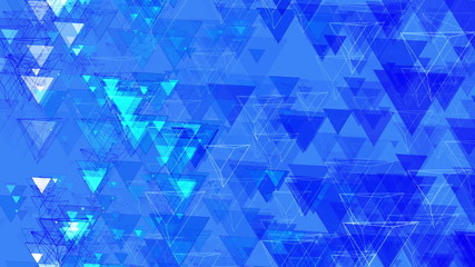 Blue Abstract Animated Pyramids