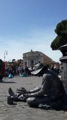 Estatua viviente roma.